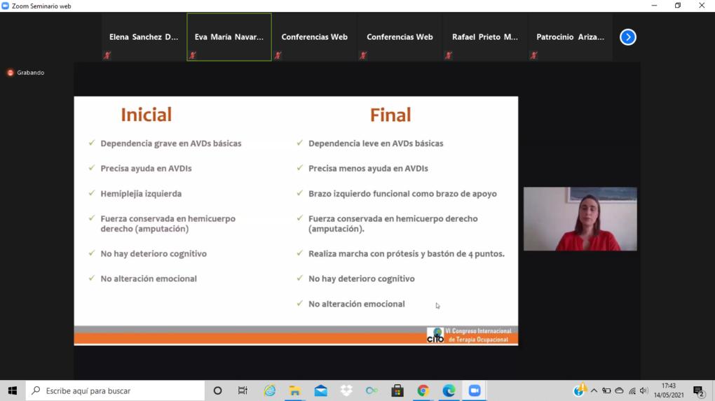 Participación en el VI Congreso Internacional de Terapia Ocupacional de la Universidad Miguel Hernández
